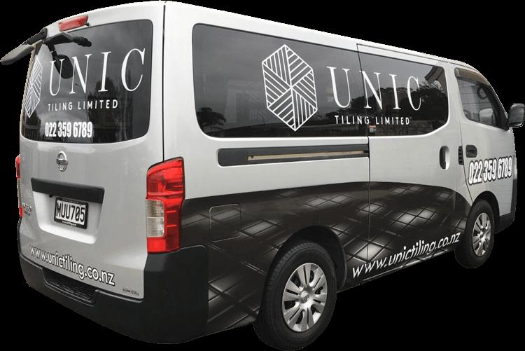 unic tiling work van